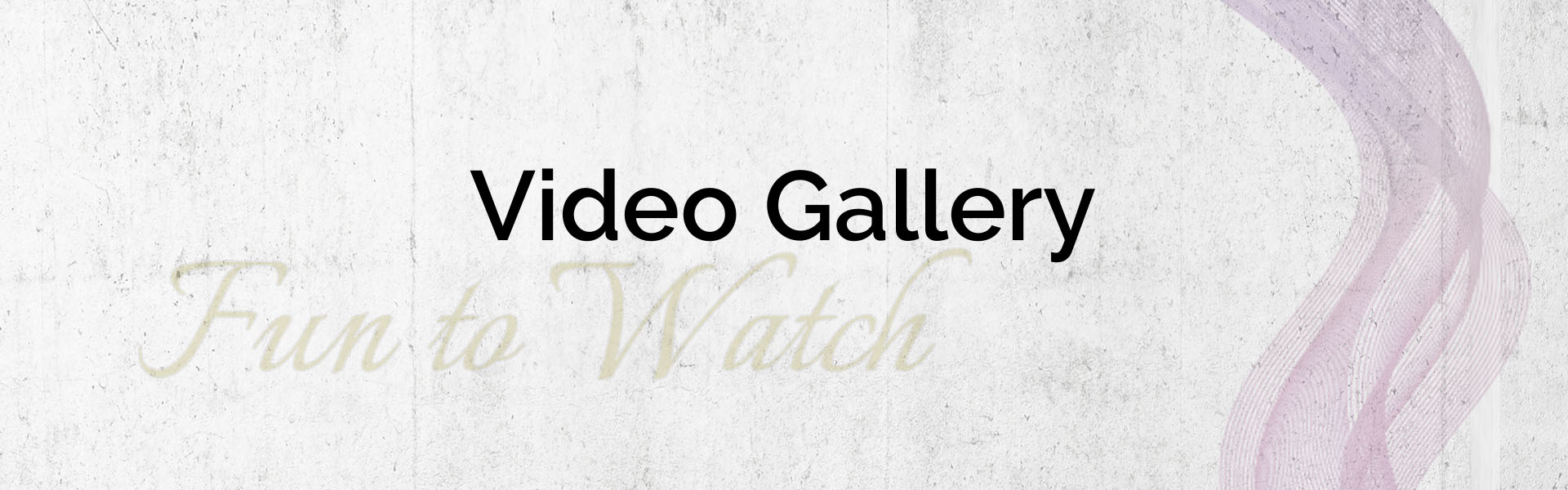 Video Gallery Banner